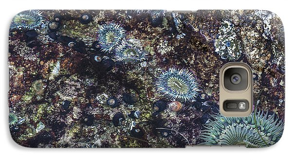 Galaxy Case featuring the mixed media Sea Anenome Jewels by Terry Rowe