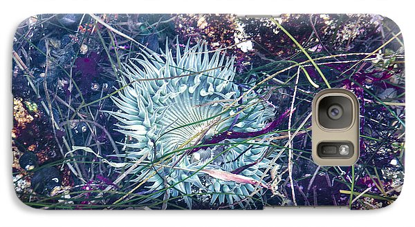 Galaxy Case featuring the mixed media Sea Anenome - Terrestrial Flower by Terry Rowe