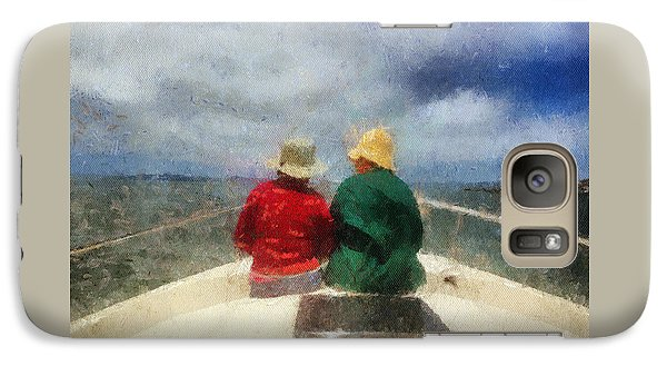 Galaxy Case featuring the painting Sea Breeze 4 On The Bay by Linda Weinstock
