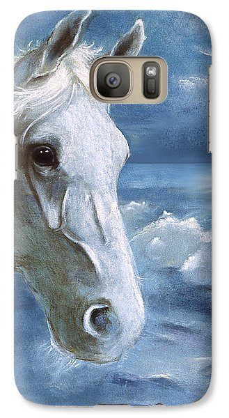 Galaxy Case featuring the painting Sea Dreams In Blue by Terry Webb Harshman