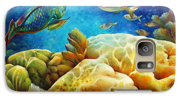 Galaxy Case featuring the painting Sea Escape I -27x40 by Nancy Tilles