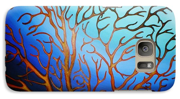 Galaxy Case featuring the painting Sea Fan In Backlight by Paula L
