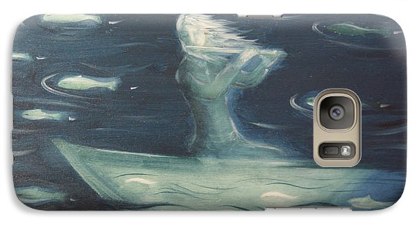 Galaxy Case featuring the painting Sea Flute Melody by Tone Aanderaa