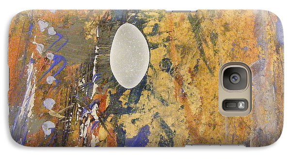 Galaxy Case featuring the mixed media Sea Glass Float by Nancy Kane Chapman