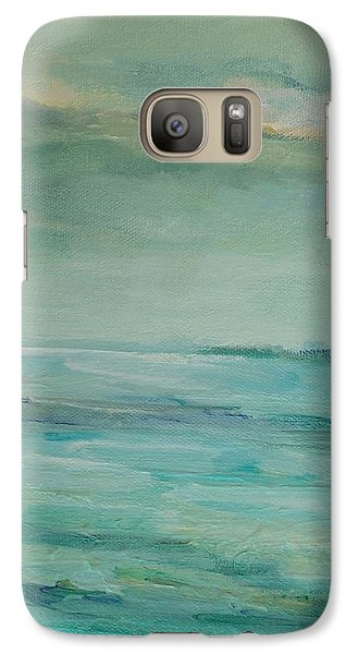 Galaxy Case featuring the painting Sea Glass by Mary Wolf
