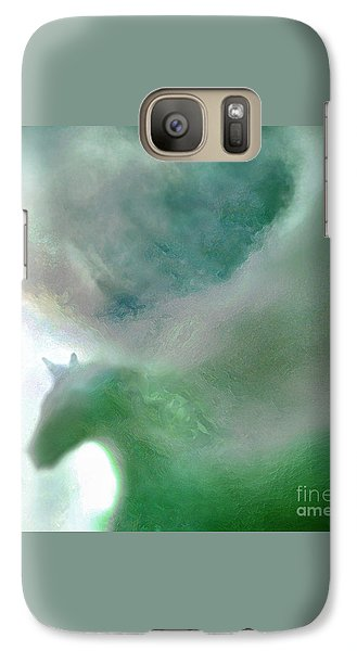 Galaxy Case featuring the photograph Sea Glass Storm by Michael Rock