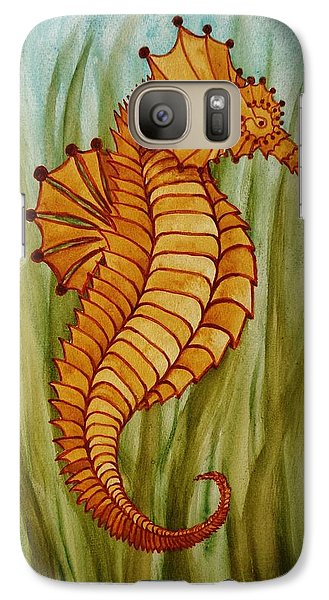 Galaxy Case featuring the painting Sea Horse by Katherine Young-Beck