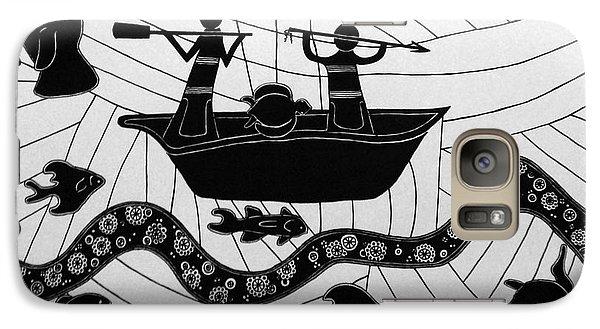 Galaxy Case featuring the drawing Sea Hunt by Megan Dirsa-DuBois