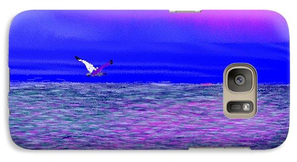 Galaxy Case featuring the digital art Sea. Last Rays Of Sun by Dr Loifer Vladimir