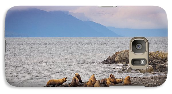 Galaxy Case featuring the photograph Sea Lion Bulls by Janis Knight