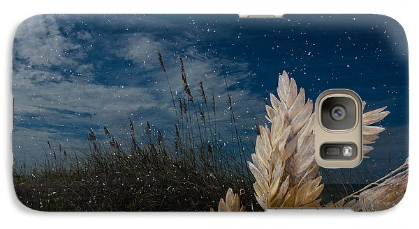 Galaxy Case featuring the photograph Sea Oat Beach by Randy Sylvia