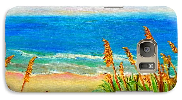 Galaxy Case featuring the painting Sea Oat Path by Shelia Kempf