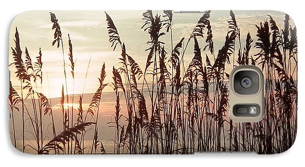 Galaxy Case featuring the photograph Spectacular Sea Oats At Sunrise by Belinda Lee