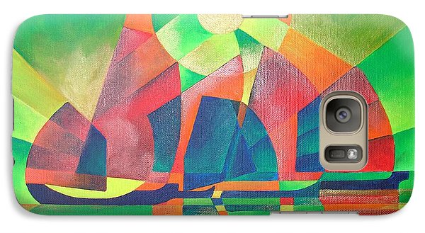 Galaxy Case featuring the painting Sea Of Green by Tracey Harrington-Simpson