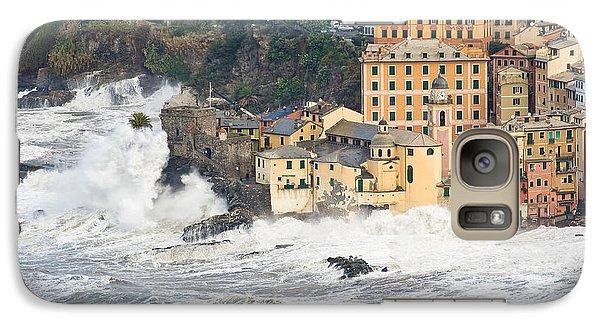 Galaxy Case featuring the photograph Sea Storm In Camogli - Italy by Antonio Scarpi