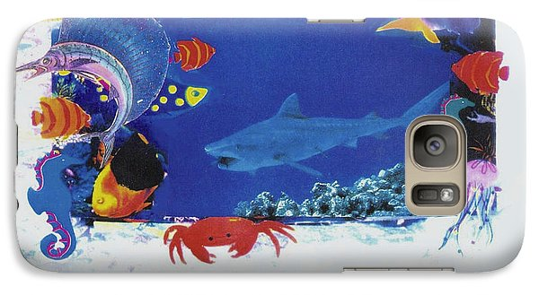 Galaxy Case featuring the mixed media Sea Survival No Spills by Mary Ann  Leitch