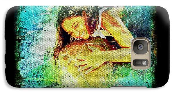 Galaxy Case featuring the digital art Sea Turtle Love by Absinthe Art By Michelle LeAnn Scott