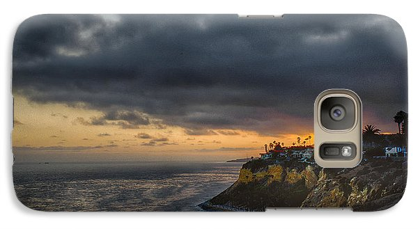 Galaxy Case featuring the photograph Sea View Sunset by Joseph Hollingsworth