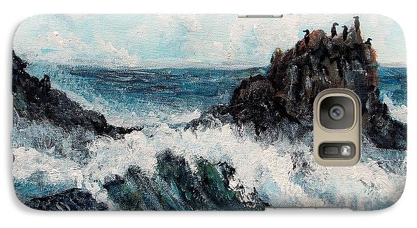 Galaxy Case featuring the painting Sea Whisper by Shana Rowe Jackson