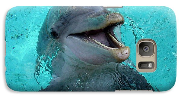 Galaxy Case featuring the photograph Sea World Dolphin by David Nicholls