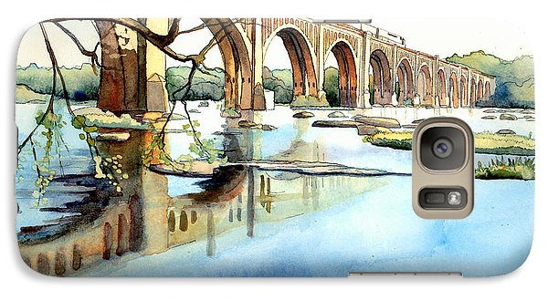 Train Galaxy S7 Case - Seaboard Bridge Crossing The James  by Jim Smither