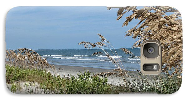 Galaxy Case featuring the photograph Seabrook Sc Beach by Val Miller