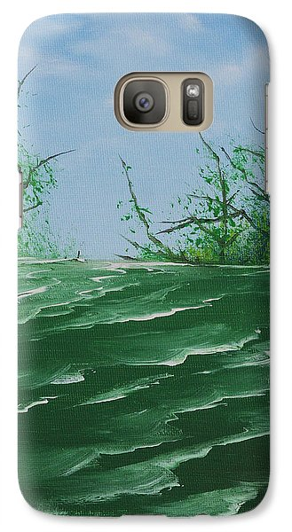 Galaxy Case featuring the painting Seafoam Surf by Jennifer Muller