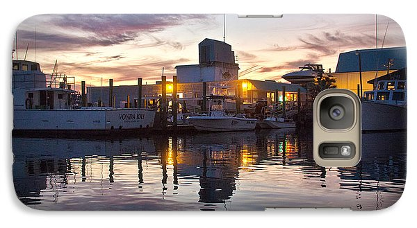 Galaxy Case featuring the photograph Seafood Sunset by Phil Mancuso