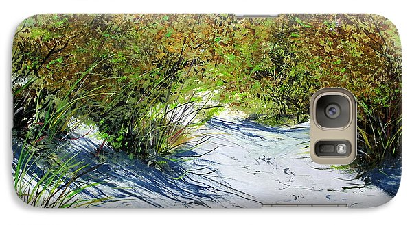 Galaxy Case featuring the painting Seagrass by Ken Ahlering