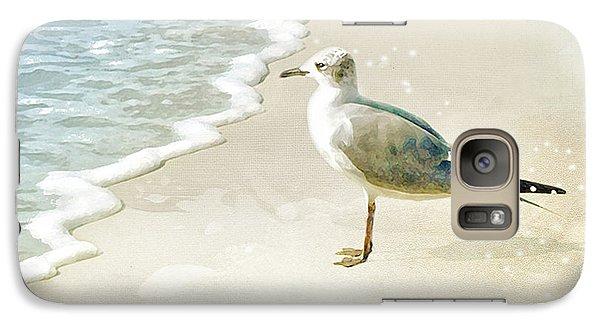 Galaxy Case featuring the photograph Seagull 2 Plum Island by Karen Lynch
