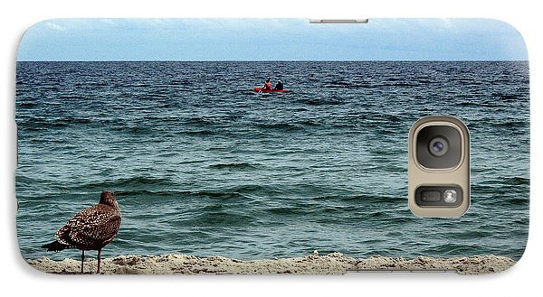 Galaxy Case featuring the photograph Seagull And Kayak by Dorin Adrian Berbier