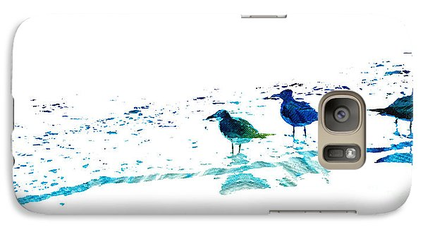 Seagull Art - On The Shore - By Sharon Cummings Galaxy S7 Case by Sharon Cummings