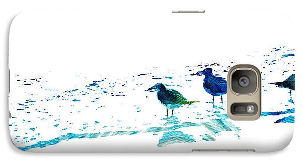 Seagull Art - On The Shore - By Sharon Cummings Galaxy S7 Case