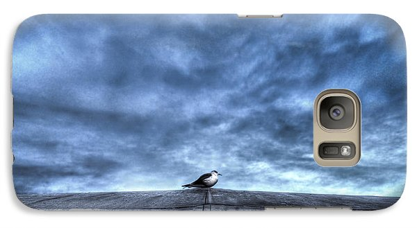 Galaxy Case featuring the photograph Seagull At Rest by Rafael Quirindongo
