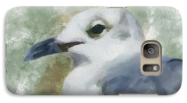 Galaxy Case featuring the painting Seagull Closeup by Greg Collins