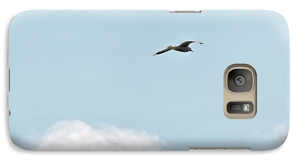 Galaxy Case featuring the photograph Seagull Flying High by Leif Sohlman