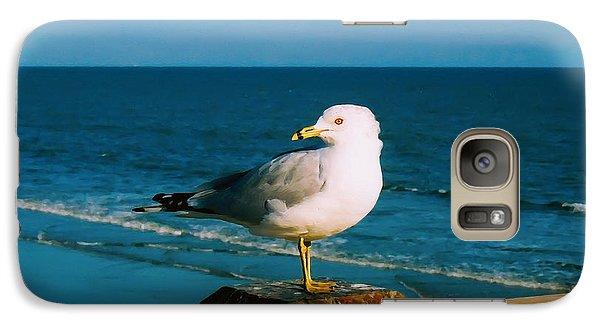 Galaxy Case featuring the digital art Seagull by Kara  Stewart