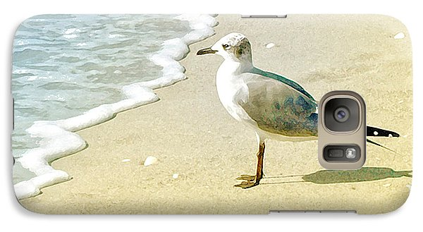 Galaxy Case featuring the photograph Seagull by Karen Lynch