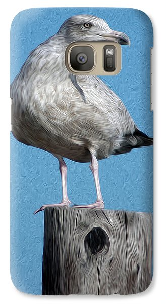 Galaxy Case featuring the digital art Seagull by Kelvin Booker