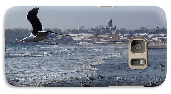 Galaxy Case featuring the photograph Seagull by Robert Nickologianis