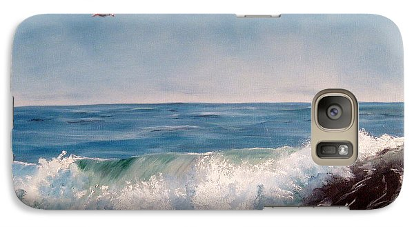 Galaxy Case featuring the painting Seagull With Wave  by Lee Piper
