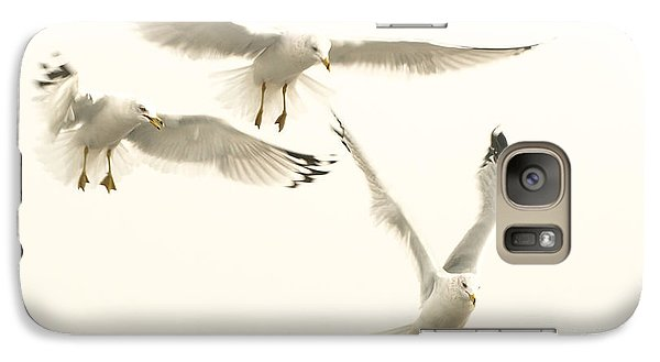 Galaxy Case featuring the photograph Seagulls Flight by Raymond Earley