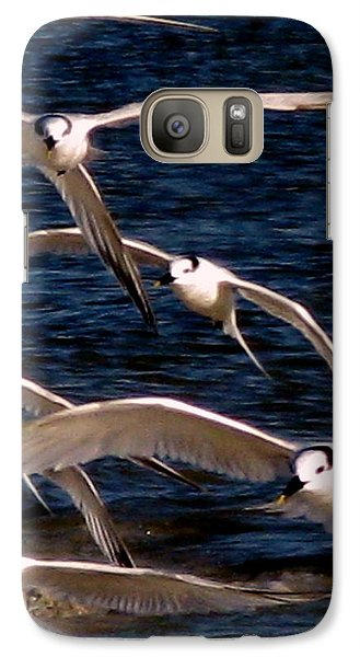 Galaxy Case featuring the photograph Seagulls In Flight 2 by Patricia Januszkiewicz