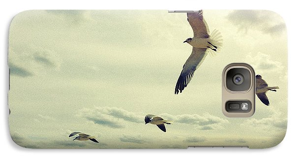 Galaxy Case featuring the photograph Seagulls In Flight by Bradley R Youngberg