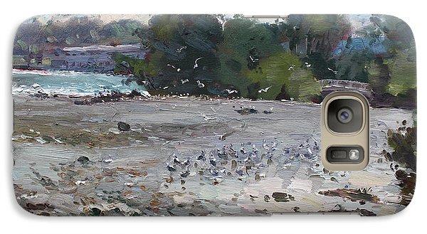 Seagull Galaxy S7 Case - Seagulls On Niagara River by Ylli Haruni