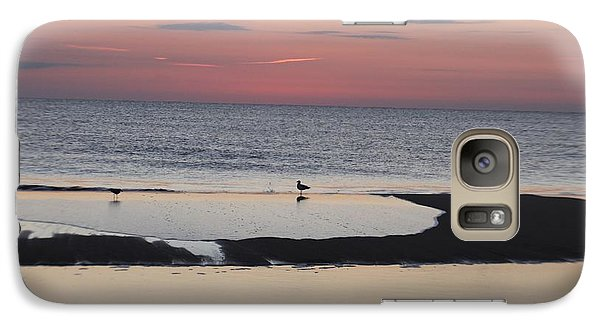 Galaxy Case featuring the photograph Seagulls On The Seashore by Robert Banach