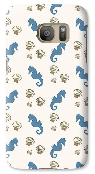 Seahorse And Shells Pattern Galaxy S7 Case by Christina Rollo