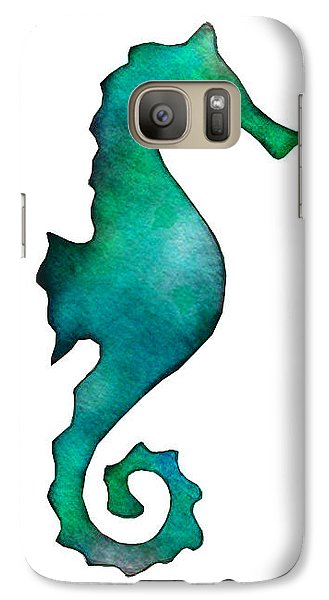 Galaxy Case featuring the painting Seahorse by Laura Bell