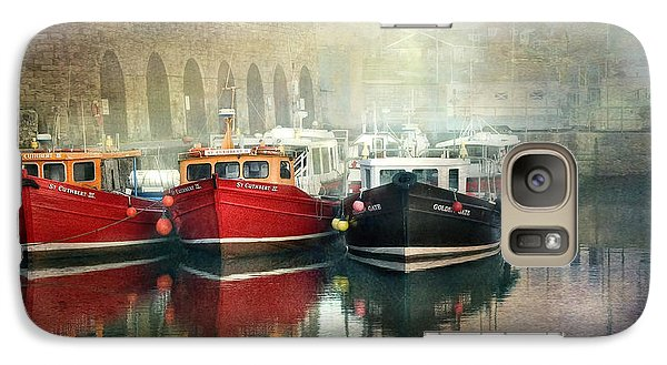 Galaxy Case featuring the photograph Seahouses Harbour In Mist by Brian Tarr