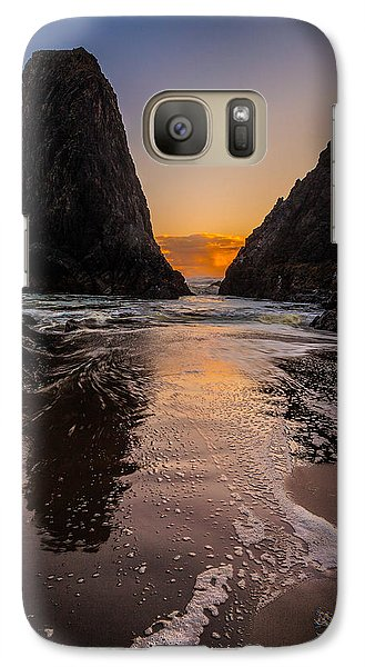 Galaxy Case featuring the photograph Seal Rock 1 by Jacqui Boonstra
